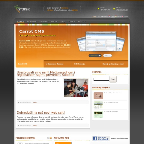 Carrot Plant Web Development