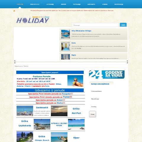 Holiday-Travel Agency